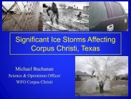 Significant Ice Storms Affecting Corpus Christi, Texas