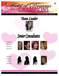 February 2012 Newsletter, January Results Angela Bartel Amanda ...