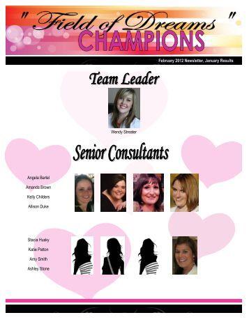 February 2012 Newsletter, January Results Angela Bartel Amanda ...