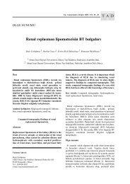 Renal replasman lipomatozisin BT bulguları - Tıp Araştırmaları Dergisi