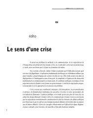 Le sens d'une crise - La Revue nouvelle