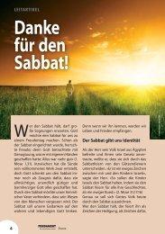 Danke für den Sabbat! - hoffnung weltweit ev
