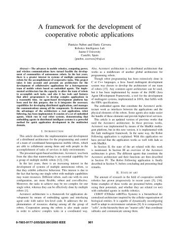 A framework for the development of cooperative robotic ... - It works!