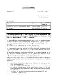 Vorlage Nr. 009/2012 Planfeststellungsverfahren 3.1 zum ... - in Rees!