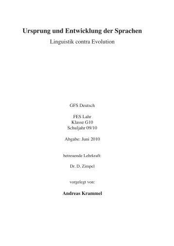 Ursprung und Entwicklung der Sprachen - Christliche Bildungsarbeit