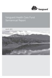 Vanguard Health Care Fund Semiannual Report July 31, 2011