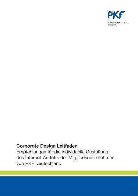 Corporate Design Leitfaden Empfehlungen für die individuelle ... - PKF