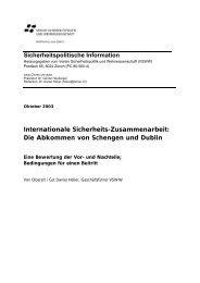 Die Abkommen von Schengen und Dublin - VSWW