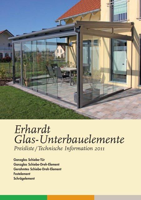 Erhardt Glas-Unterbauelemente