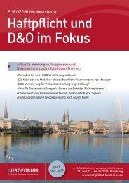 PDF: EUROFORUM Haftpflicht 2014 Newsletter - Wilhelm Rechtsanwälte