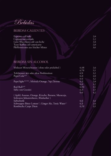 Blick in unsere Weinkarte