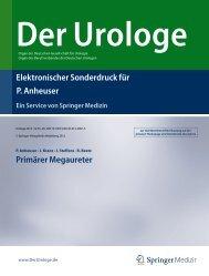 Elektronischer Sonderdruck für Primärer Megaureter P. Anheuser