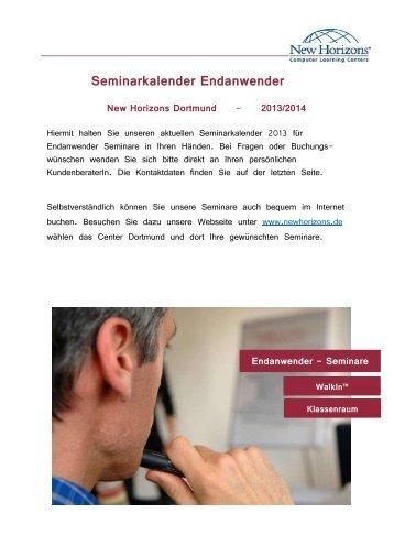 Seminarkalender Endanwender - New Horizons