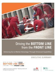 Driving the BOTTOM LINE from the FRONT LINE - Alexandrea J ...