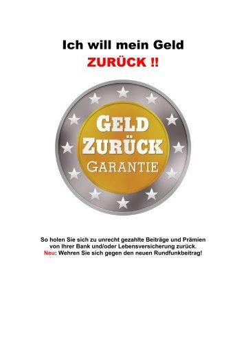Ich will mein Geld ZURÜCK !! - Benn-Verlag