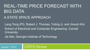 REAL-TIME PRICE FORECAST WITH BIG DATA