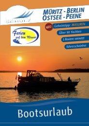 Katalog Yachtcharter Schulz - Hausboot mieten