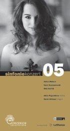 Program - Gürzenich-Orchester Köln