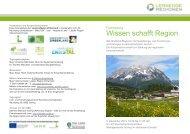 Wissen schafft Region - Raumplanung Steiermark