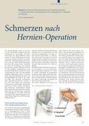 Schmerzen nach - Wilhelmsburger Krankenhaus