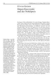 Jürgen Kuczynski und der Nobelpreis - Rosa-Luxemburg-Stiftung
