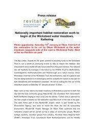 Select here for the Press Release (pdf 71Kb) - River Nene Regional ...