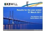 Preliminary Results Presentation 2011 - Kewill