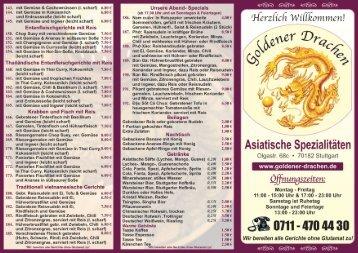 Unsere Speisekarte finden Sie hier! - Goldener Drachen