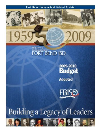 2009-10 Budget Summary - Fort Bend Independent School District