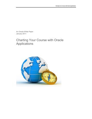 Charting Your Course with Oracle Applications