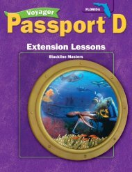 Extension Lessons - Voyager Learning