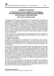 Leitfaden für Gespräche im Rahmen der Orientierungshilfe für den ...