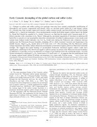 Early Cenozoic decoupling of the global carbon and sulfur cycles