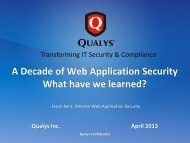 A Decade of Web Application Security What have we learned