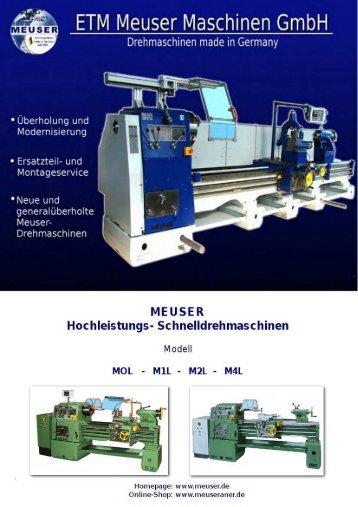 Meuser Drehmaschinen L-Typen - Meuser - Shop