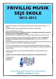 frivillig musik - Sejs Skole
