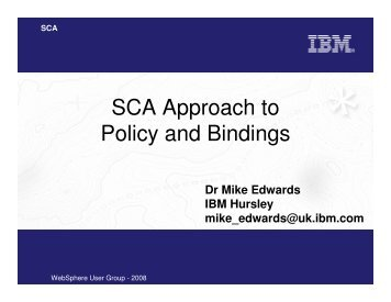 SCA Approach to Policy and Bindings
