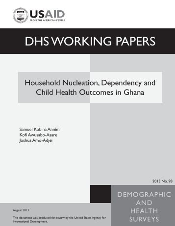 Household Nucleation, Dependency and Child ... - Measure DHS