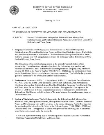 OMB Bulletin 13-01 - The White House