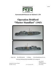 Bauanleitung als download - Coastal Forces in Paper