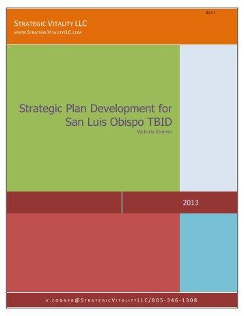 Strategic Vitality LLC - the City of San Luis Obispo