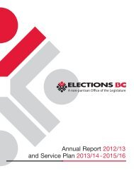 Annual Report 2012/13 and Service Plan 2013/14 ... - Elections BC