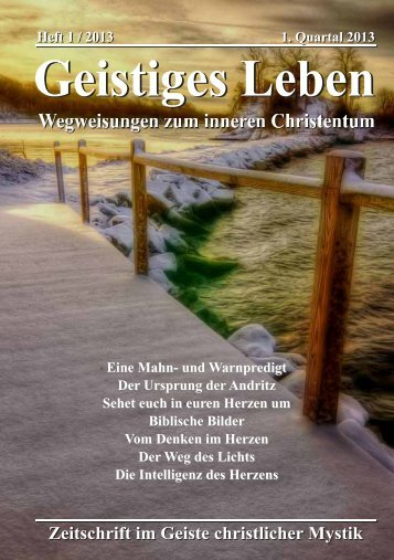 GL 1/2013 - der Lorber-Gesellschaft eV