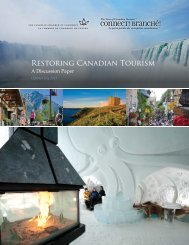 Restoring Canadian Tourism: Discussion Paper (Updated: July 2013)