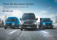 Preisliste Sprinter - Autostern Wädenswil AG