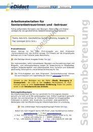 Arbeitsmaterialien Seniorenbetreuung - Grimmjahr 2012