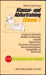 Roland Franik Hrsg. Klausur- und Abiturtraining Chemie 1
