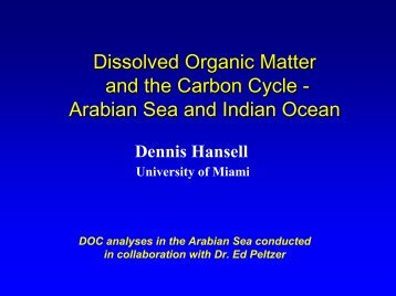 Published Reports on DOM in the Indian Ocean