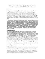 Ethical, Legal, and Social Issues (ELSI) of Genomics Research ...