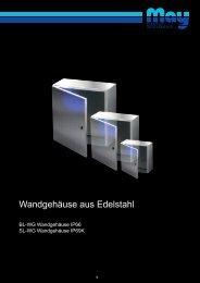 Wandgehäuse aus Edelstahl - May KG
